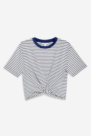 Twist Front T-Shirt   Topshop white