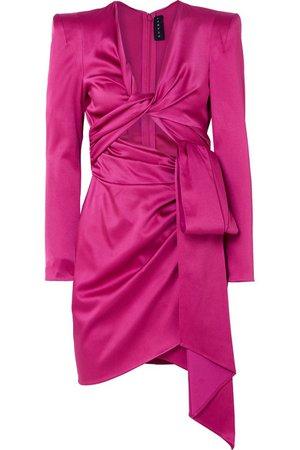 Dundas | Cutout satin mini dress | NET-A-PORTER.COM