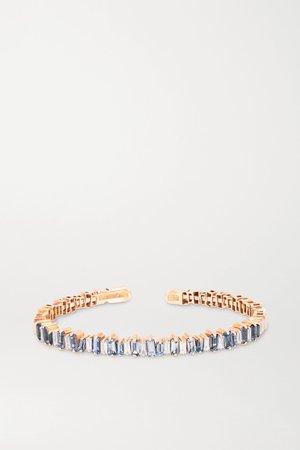 Rose gold 18-karat rose gold, sapphire and diamond cuff | Suzanne Kalan | NET-A-PORTER