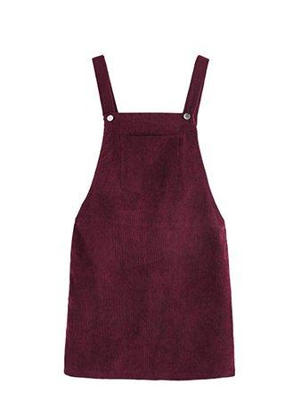 Amazon.com: Romwe Women's Straps A-line Corduroy Pinafore Bib Pocket Overall Dress: Clothing