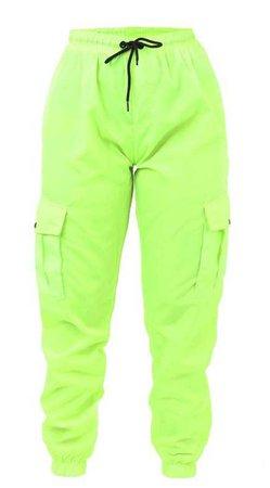 Neon green cargo pants