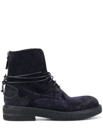 Marsèll Suede Ankle Boots With Lace Up Detail - Farfetch