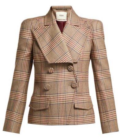 fendi plaid jacket