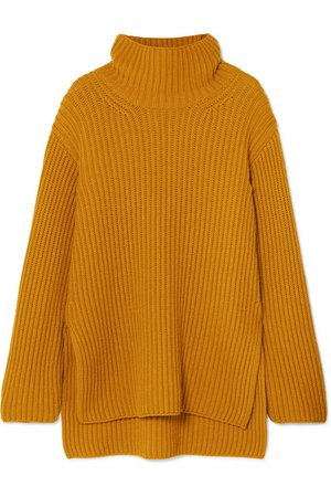 ARJÉ | Oversized wool, silk and cashmere-blend turtleneck sweater | NET-A-PORTER.COM