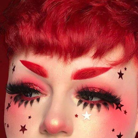 red alt makeup