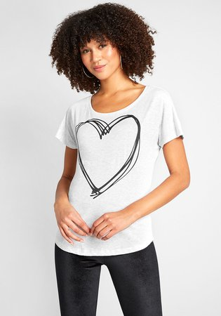 Matters of the Heart Graphic Tee Heather Grey | ModCloth