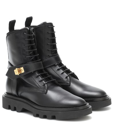 Givenchy - Eden leather combat boots | Mytheresa
