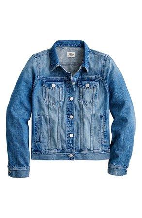 J.Crew Denim Jacket (Brilliant Day Wash)   Nordstrom