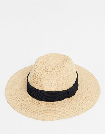 & Other Stories straw hat with black band   ASOS