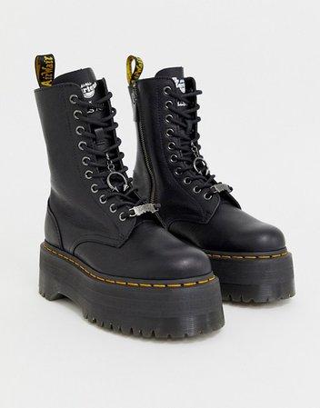 black boots platform