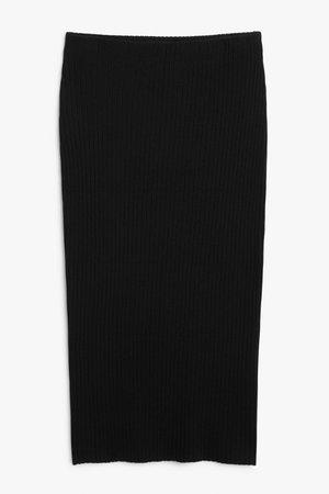 Midi skirt - Black - Midi skirts - Monki