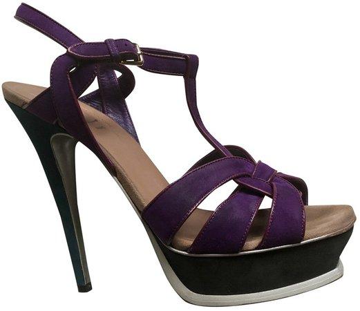 Tribute Purple Suede Sandals