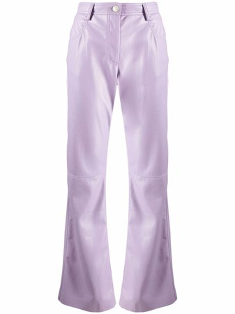 MSGM high-waisted faux-leather trousers - FARFETCH
