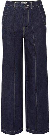 Jane Mid-rise Straight-leg Jeans - Dark denim