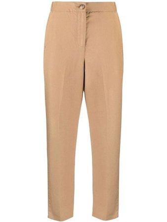 Shop LIU JO inset-pocket straight trousers with Afterpay - Farfetch Australia