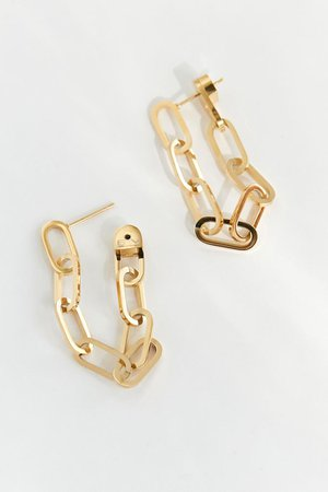 Ellie Vail Everly Chain Drop Earring | Urban Outfitters