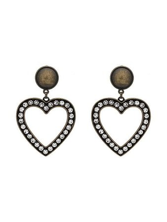 Alessandra Rich Oversized Heart Shaped Earrings