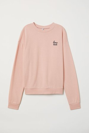Sweatshirt - Dusty rose/Lovers -   H&M US