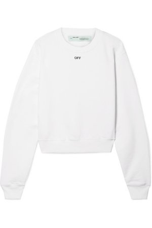 Off-White | Printed cotton-jersey sweatshirt | NET-A-PORTER.COM