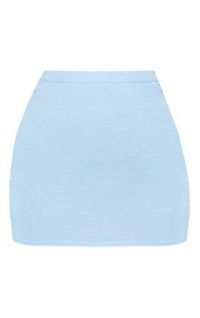 Dusty Blue Jersey Mini Skirt | Skirts | PrettyLittleThing