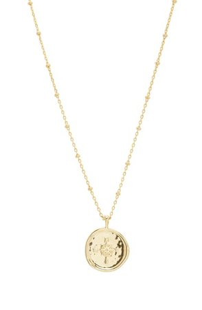 gorjana Compass Coin Pendant Necklace | Nordstrom