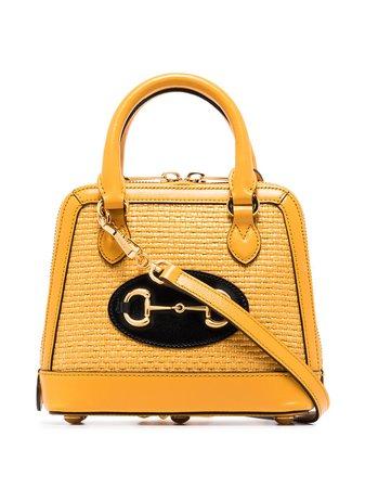 Gucci Horsebit 1955 Raffia Tote Bag - Farfetch