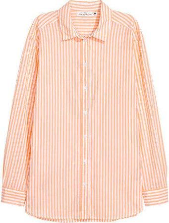 Cotton Shirt - Orange