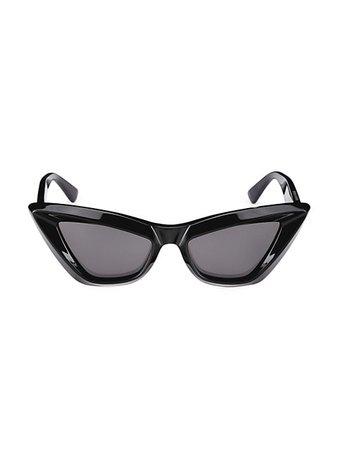 Bottega Veneta Minimalist 53MM Cat Eye Sunglasses | SaksFifthAvenue