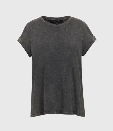 ALLSAINTS US: Womens Anna T-Shirt (acid_washed_black)