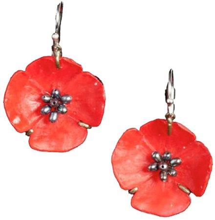 red poppy earrings - Google Search