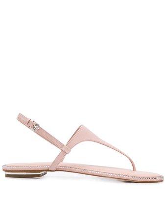 Michael Michael Kors Studded Thong Sandals 40S9ENFA1L Pink   Farfetch