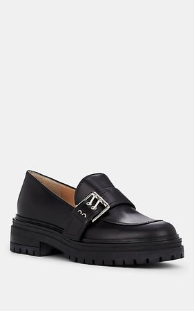 Gianvito Rossi Buckle-Detailed Leather Loafers | Barneys New York