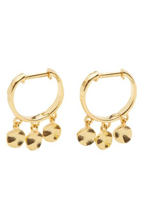 gorjana Chloe Mini Disc Huggie Hoop Earrings | Nordstrom