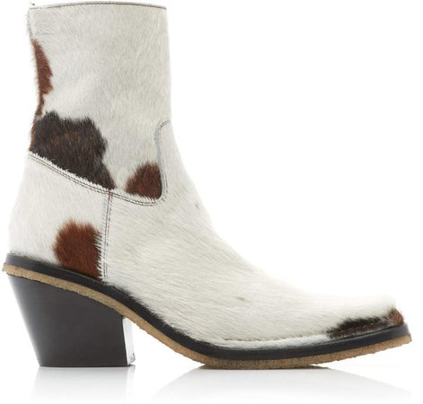 Bruna Haircalf Ankle Boots