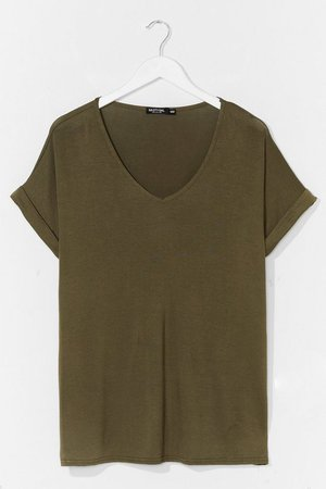 Leave It to V-Neck Relaxed Tee | Nasty Gal