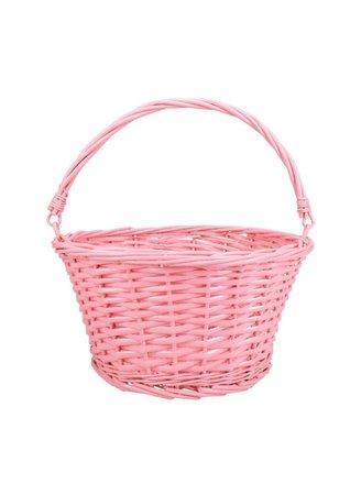 peach pink wicker basket Easter png filler