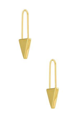 Uncommon James Hold Em Huggies Earrings in Gold | REVOLVE