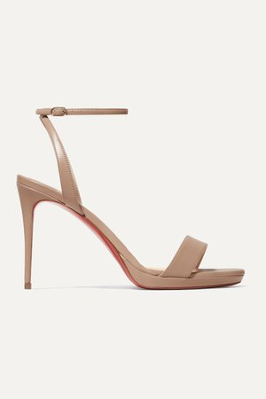 Beige Loubi Queen 100 leather sandals | Christian Louboutin | NET-A-PORTER