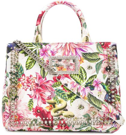 Floral Top-Handle Tote
