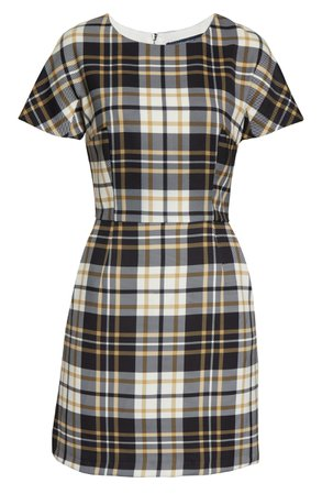 French Connection Eleanor Plaid Sheath Dress   Nordstrom