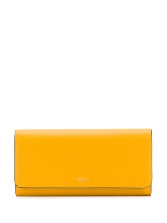 Mulberry Small Classic Grain Continental Wallet RL4440205N651 Yellow | Farfetch