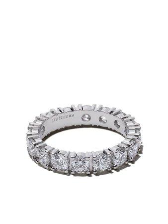 De Beers Platinum Db Classic Full Eternity Diamond 3.5Mm Band Continuity   Farfetch.com