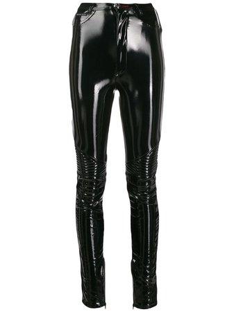 Philipp Plein Vinyl Skinny Trousers - Farfetch