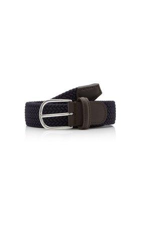 Woven Leather Belt by Anderson's | Moda Operandi