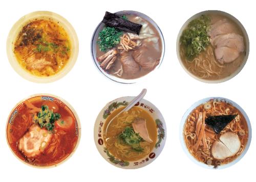 assorted ramen bowls