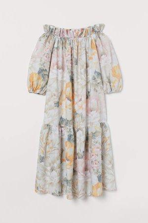 Off-the-shoulder Dress - White