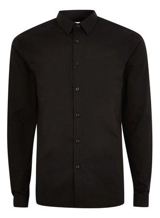 TopMan Premium Black Slim Dress Shirt