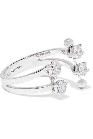 Delfina Delettrez | 18-karat white gold diamond ring | NET-A-PORTER.COM