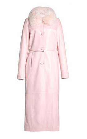 Charlot Fur-Trimmed Leather Coat By Saks Potts | Moda Operandi