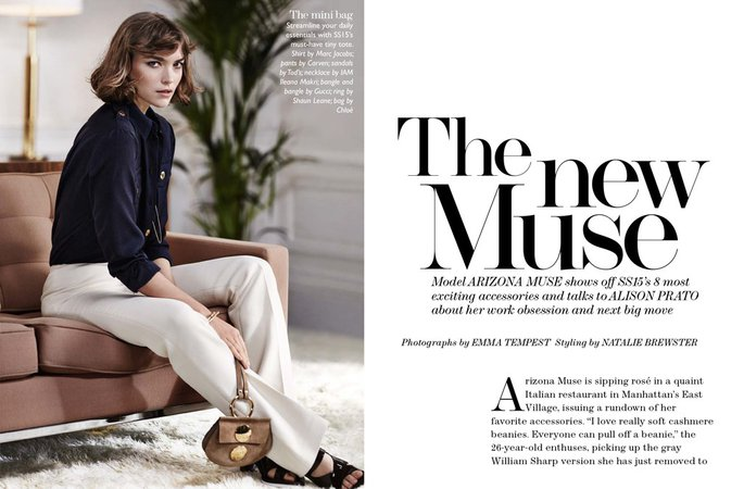 Streeters - News - The Edit 12 March 2015 - Arizona Muse